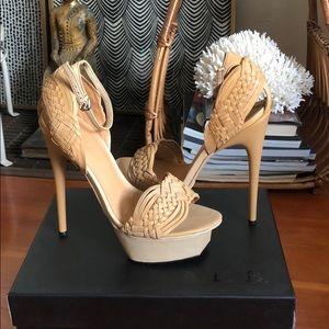 VINTAGE L.A.M.B. Peel Toe Stiletto Size 8.5